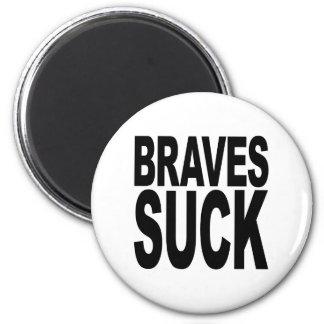 Braves Suck 2 Inch Round Magnet