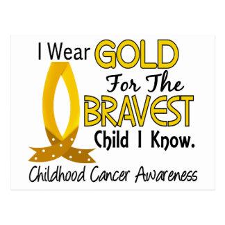 Bravest Child I Know Childhood Cancer Postcard