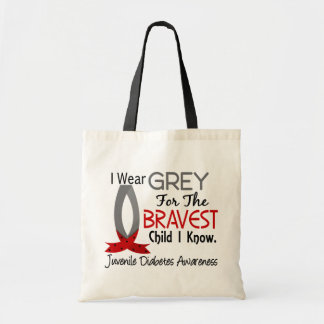 Bravest Child I Know Juvenile Diabetes Canvas Bags