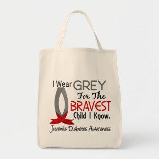 Bravest Child I Know Juvenile Diabetes Canvas Bag