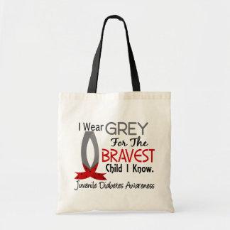 Bravest Child I Know Juvenile Diabetes Budget Tote Bag