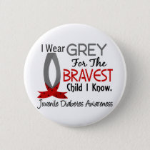Bravest Child I Know Juvenile Diabetes Button