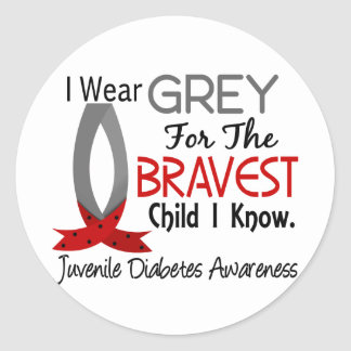 Bravest Child I Know Juvenile Diabetes Classic Round Sticker