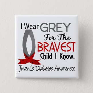 Bravest Child I Know Juvenile Diabetes Pinback Button