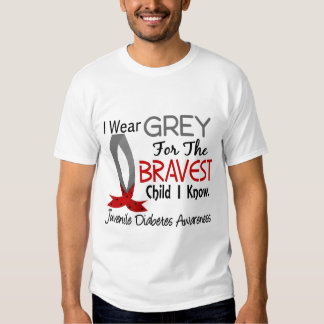 Bravest Child I Know Juvenile Diabetes Tee Shirt