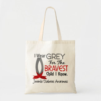 Bravest Child I Know Juvenile Diabetes Tote Bag