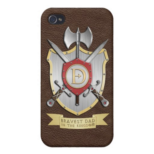 Bravest Dad in the Kingdom Brown iPhone 4 Cover