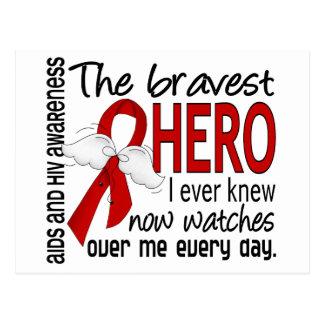 Bravest Hero I Ever Knew AIDS Postcard