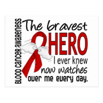 Bravest Hero I Ever Knew Blood Cancer Postcard