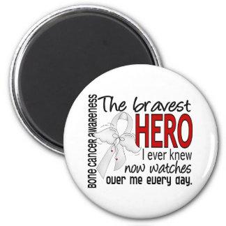 Bravest Hero I Ever Knew Bone Cancer 2 Inch Round Magnet
