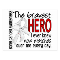 Bravest Hero I Ever Knew Bone Cancer Postcard
