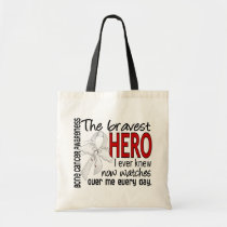 Bravest Hero I Ever Knew Bone Cancer Tote Bag