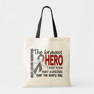 Bravest Hero I Ever Knew Brain Cancer Budget Tote Bag