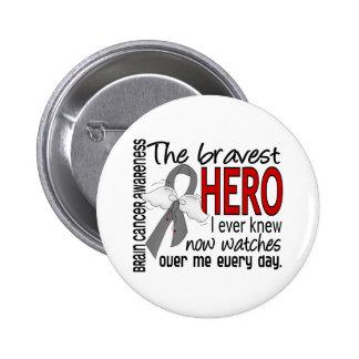 Bravest Hero I Ever Knew Brain Cancer Pinback Button