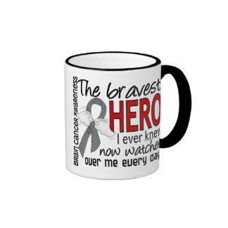 Bravest Hero I Ever Knew Brain Cancer Ringer Mug