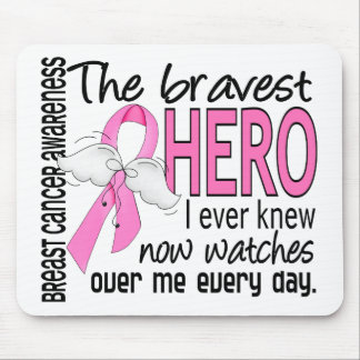 Bravest Hero I Ever Knew Breast Cancer Mouse Pad