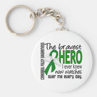 Bravest Hero I Ever Knew Cerebral Palsy Basic Round Button Keychain