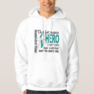Bravest Hero I Ever Knew Cervical Cancer Hoodie