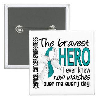 Bravest Hero I Ever Knew Cervical Cancer Pinback Button