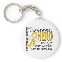 Bravest Hero I Ever Knew Childhood Cancer Keychain