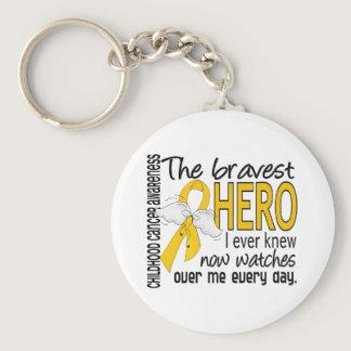 Bravest Hero I Ever Knew Childhood Cancer Keychain