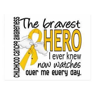 Bravest Hero I Ever Knew Childhood Cancer Postcard