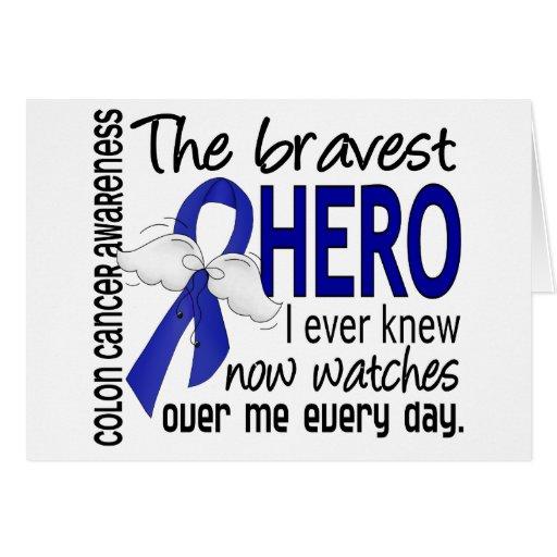 Bravest Hero I Ever Knew Colon Cancer Greeting Card