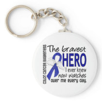Bravest Hero I Ever Knew Colon Cancer Keychain