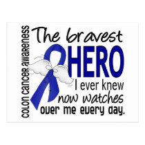 Bravest Hero I Ever Knew Colon Cancer Postcard