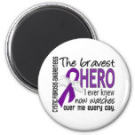 Bravest Hero I Ever Knew Cystic Fibrosis 2 Inch Round Magnet