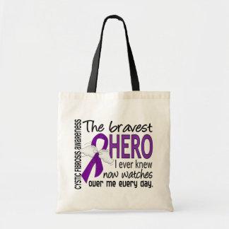 Bravest Hero I Ever Knew Cystic Fibrosis Budget Tote Bag
