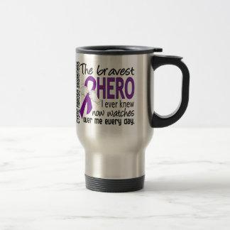 Bravest Hero I Ever Knew Cystic Fibrosis 15 Oz Stainless Steel Travel Mug