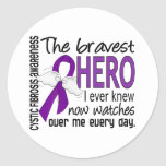 Bravest Hero I Ever Knew Cystic Fibrosis Round Stickers