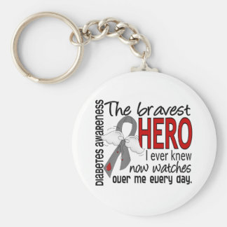 Bravest Hero I Ever Knew Diabetes Basic Round Button Keychain