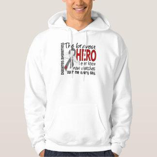 Bravest Hero I Ever Knew Diabetes Hoodie