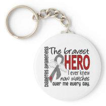 Bravest Hero I Ever Knew Diabetes Keychain