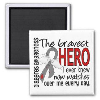 Bravest Hero I Ever Knew Diabetes Fridge Magnet