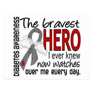 Bravest Hero I Ever Knew Diabetes Postcard