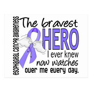 Bravest Hero I Ever Knew Esophageal Cancer Postcard
