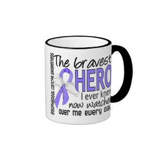 Bravest Hero I Ever Knew Esophageal Cancer Ringer Mug