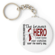 Bravest Hero I Ever Knew Head and Neck Cancer Keychain