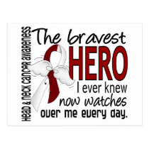 Bravest Hero I Ever Knew Head and Neck Cancer Postcard