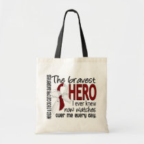 Bravest Hero I Ever Knew Head and Neck Cancer Tote Bag