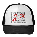 Bravest Hero I Ever Knew Heart Disease Hat