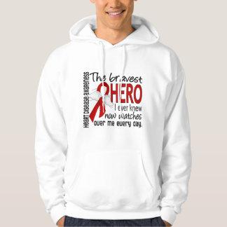 Bravest Hero I Ever Knew Heart Disease Hooded Sweatshirt