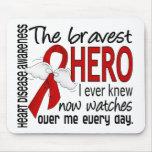 Bravest Hero I Ever Knew Heart Disease Mousepad