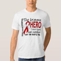 Bravest Hero I Ever Knew Heart Disease T-shirts