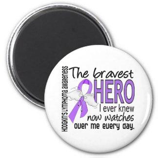 Bravest Hero I Ever Knew Hodgkin's Lymphoma 2 Inch Round Magnet