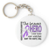 Bravest Hero I Ever Knew Hodgkin's Lymphoma Keychain