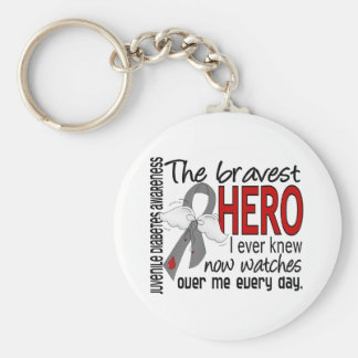 Bravest Hero I Ever Knew Juvenile Diabetes Keychain